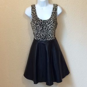 Very J, with faux leather skirt (L) dress, NEW!!